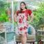 3 Size= XL,3XL,5XL ชุดเดรสสาวอวบ++ผ้า Korea Print จุดเด่นของชุดนี้อยู่ที่ลวดลายบนผ้า พื้นขาวลายกุหลาบแดง thumbnail 8