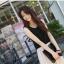 ชุดเดรสยาวสีดำ แขนกุด ผ้าชีฟอง เอวยืด มีซับใน thumbnail 4