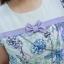 5 Size= XL,2XL,3XL,4XL,5XL ชุดเดรสสาวอวบ++ ชุดเดรสผ้าบุชเชอร์ ทอลายดอก คาดอกติดโบว์ สีม่วง ผ้าเนื้อดีมากหนา thumbnail 15