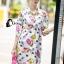 Cliona made' City Life Print Over Size Shirt Dress thumbnail 4