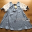 Lady Ribbon's Made Lady Lara Relaxed Lace-Sleeve Pastel Blue Mini Dress with Ribbon thumbnail 5