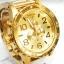 นาฬิกา NIXON Men Chronograph Chronograph Gold Dails Watch A083502 48-20 thumbnail 4