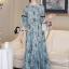 Cliona Made' Provence Floral Line Long Dress thumbnail 6