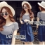 Lady Alexa Street Chic Striped T-Shirt with Denim Overall Dress thumbnail 3