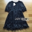 Lady Ribbon's Made Lady Elena Feminine Cross Dot Printed Chiffon and Knitted Dress thumbnail 6