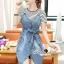 Seoul Secret Say's... Chill Cami Denim Dress Stripy Cami Blouse Set thumbnail 5