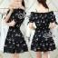 Sevy Cherry Blossom Off Shoulder Elastic Waist Mini Dress thumbnail 4
