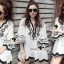 Seoul Secret Say's... Curly Stick Girly Bell Sleeves LOng Blouse thumbnail 3