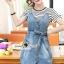 Seoul Secret Say's... Chill Cami Denim Dress Stripy Cami Blouse Set thumbnail 4