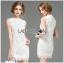 Lady Ribbon's Made Lady Christine Little Daisy Embroidered White Lace Mini Dress thumbnail 6