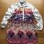 Lady Ribbon's Made Lady Victoria Colourful Mixed Floral Printed Satin Shirt Dress thumbnail 5