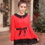 เสื้อแฟชั่น แขนยาว สีดำ รหัส 43936-แดง thumbnail 5