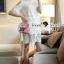 Seoul Secret Say's... Open Shiulder Lace Furnish Shirt Dress thumbnail 3