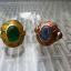 แหวนถมทอง ลายสุโขทัย ลงยา ประดับพลอย ลายดอกไม้ thumbnail 1