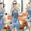 Seoul Secret Say's... Chill Cami Denim Dress Stripy Cami Blouse Set thumbnail 6