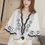 Seoul Secret Say's... Curly Stick Girly Bell Sleeves LOng Blouse thumbnail 5