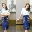 Sweet Bunny Present... Korea Embroidered Butterfly Pencil Skirt Set thumbnail 6
