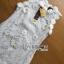 Lady Ribbon's Made Lady Christine Little Daisy Embroidered White Lace Mini Dress thumbnail 9