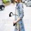Cliona made' Ellisa Extra Used Cartoon Line Denim Dress Export Grade thumbnail 4