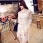 Cliona made' Jane Graceful White Lace Dress thumbnail 3