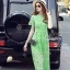 Korea Design By Lavida high quality luxury green lace long dress thumbnail 1