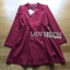 Lady Ribbon's Made Lady Samantha Smart Chic Double-Breasted Cotton Dress สีแดง thumbnail 5