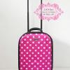 กระเป๋าเดินทาง 16 นิ้ว สีชมพูลายจุด