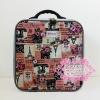 กระเป๋าเดินทางไซส์ M สีชมพู ลายหอไอเฟล