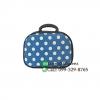 กระเป๋าผ้าพรีเมี่ยมใส่เครื่องสำอาง ขนาด 12 นิ้ว สีน้ำเงิน