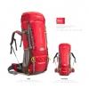 เป้ Backpack 70+5L สีแดง
