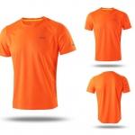 เสื้อกีฬาสีส้ม สะท้อนแสง แห้งเร็ว