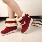(Pre Order) รองเท้าหิมะฤดูหนาวอบอุ่น รองเท้าแฟชั่นรองเท้าส้นแบนผู้หญิงมาร์ตินรองเท้ากำมะหยี่สั้น รองเท้าที่ใส่สะดวกสบาย มี 3 สี 2 แบบ ดำ,เทา,แดง ไซส์ 35,36,37,38,39,40