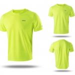 เสื้อกีฬาสีเหลืองสะท้อนแสงแห้งเร็ว