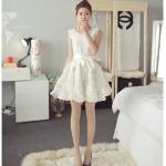 (Pre Order) ชุดสีขาวเอวพูกโบว์น่ารักมา จะใส่เที่ยวหรือออกงานก็ดูดี ใส่ออกมาดูสวยน่ารักมาก ชุดนี้มีสีขาว ขนาดสินค้า S,M,L,XL