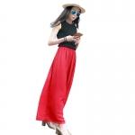 (Pre Order) กางเกงแฟชั่นผู้หญิงเลดี้วินเทจเอวสูง กางเกงชีฟองขายาว