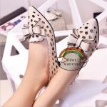 (Pre Order) แฟชั่นผู้หญิงรองเท้าหรูหรารองเท้าหัวแหลม มี 2 สีให้เลือก ไซส์ 35-38