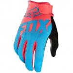 ถุงมือเต็มนิ้ว FOX สีฟ้า-แดง