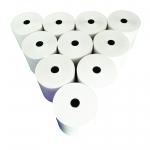 กระดาษพิมพ์ใบเสร็จ หนา 65 แกรม (Thermal Paper 80x80 mm) 10 ม้วน