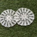 ที่รองแก้ว รองแจกัน ประดับโครเชต์ Crochet S5 White