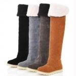 (Pre Order) 2016 ผู้หญิงฤดูหนาวรองเท้าฤดูหนาว พับเข่าบู๊ทส์แฟชั่นรองเท้าย่ำหิมะ มี 4 ดำ,เทา,น้ำตาลมส้ม size35-40