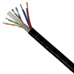 XLL LAN CABLE CAT 6 4*2*0.5mm.+DC 2*0.75mm. 100M