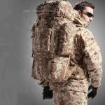 เป้ Backpack 65 ลิตร - พรางดิจิตอลทราย