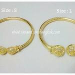 BGH-00014 กำไลข้อมือทองเหลือง (ถุงเงิน ถุงทอง : Size - S)