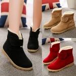 (Pre Order) รองเท้าบูทแฟชั่นใหม่ผู้หญิงบู๊ทส์ในช่วงฤดูหนาวที่อบอุ่นบู๊ทส์หิมะบูทแฟชั่น มี 3 สี แดง,น้ำ,ดำ ไซส์ 35,36,37,38,39,40