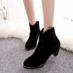 (Pre Order) รองเท้าบูทฤดูใบไม้ร่วงและฤดูหนาวใหม่ มี 3 สีให้เลือกดำ,กากี,เทา ไซส์ 35,36,37,38,39
