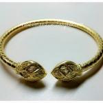 BGH-00013 กำไลข้อมือทองเหลือง (ดอกบัว)