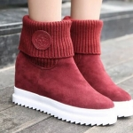(Pre Order) ในช่วงฤดูหนาวผู้หญิงแฟชั่นแบรนด์บู๊ทส้นเท้าที่เพิ่มขึ้นรองเท้าผู้หญิง มี 3 สี ดำ,แดง,เทา ไซส์ 35,36,37,38,39