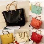 (Pre Order) ใหม่สไตล์ผู้หญิงกระเป๋าแฟชั่นหนัง PU กระเป๋าซิปกระเป๋าสะพายมีสีให้เลือก 7 สี