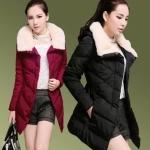 (Pre Order) ผู้หญิงฤดูหนาวใหม่ฝ้ายเบาะแจ็คเก็ตขนาดยาว wadded ทนกว่าแจ๊กเก็ตที่ใส่สบาย ๆ บวกผ้าฝ้ายขนาด overwear มี 4 สี แดง,ดำ,เขียวอ่อน,ส้ม ไซส์ M,L,XLXXL