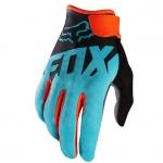 ถุงมือเต็มนิ้ว FOX สีดำ-ฟ้า
